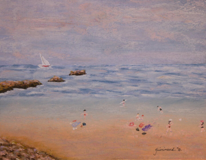 Etienne Guérinaud - La plage en famille