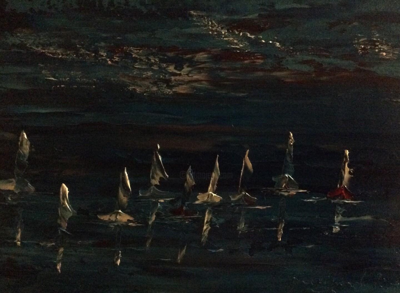 Etienne Guérinaud - Les voiliers dans l'obscurité