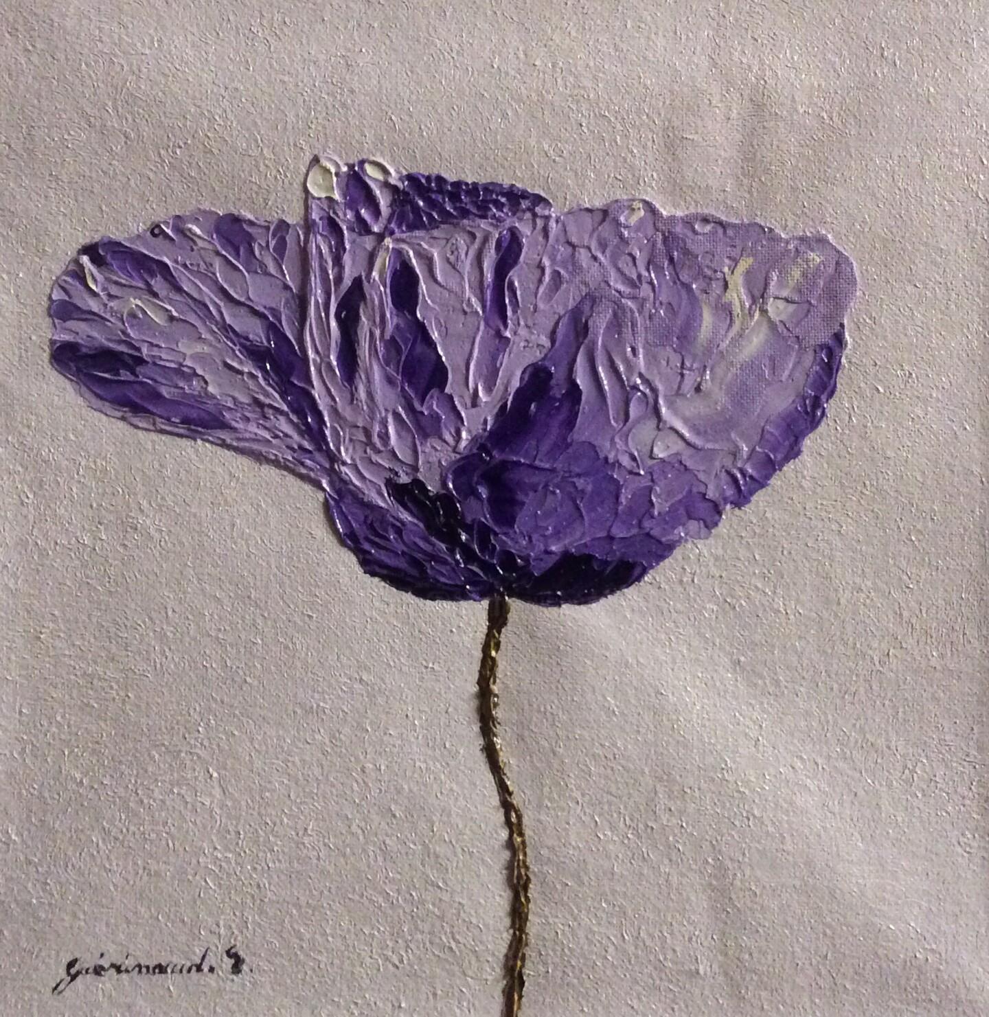 Etienne Guérinaud - Coquelicot violet (7)