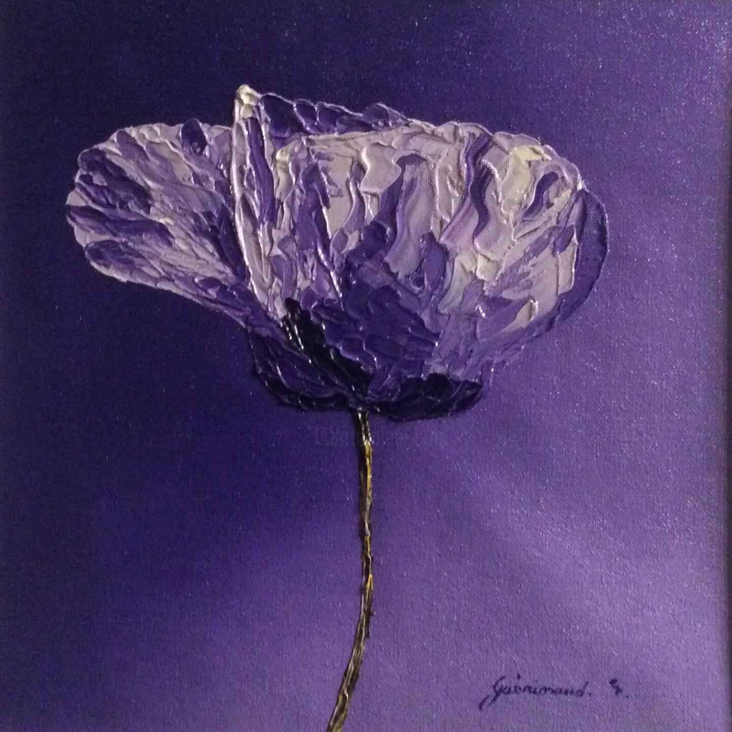 Etienne Guérinaud - Coquelicot violet (4)