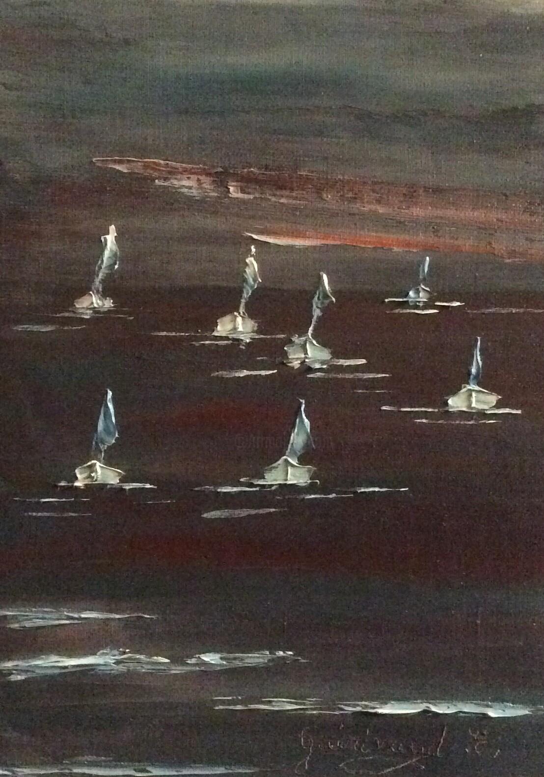 Etienne Guérinaud - Crépuscule pour nous voiliers