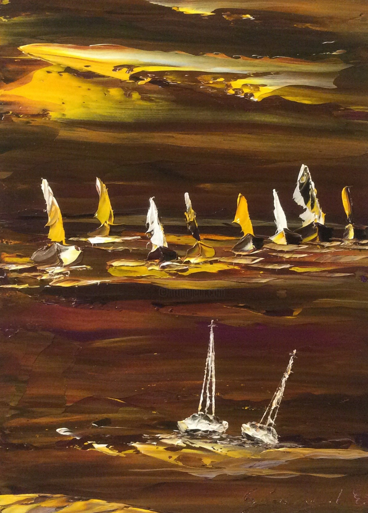 Etienne Guérinaud - Paysage marin au couleurs de la vie