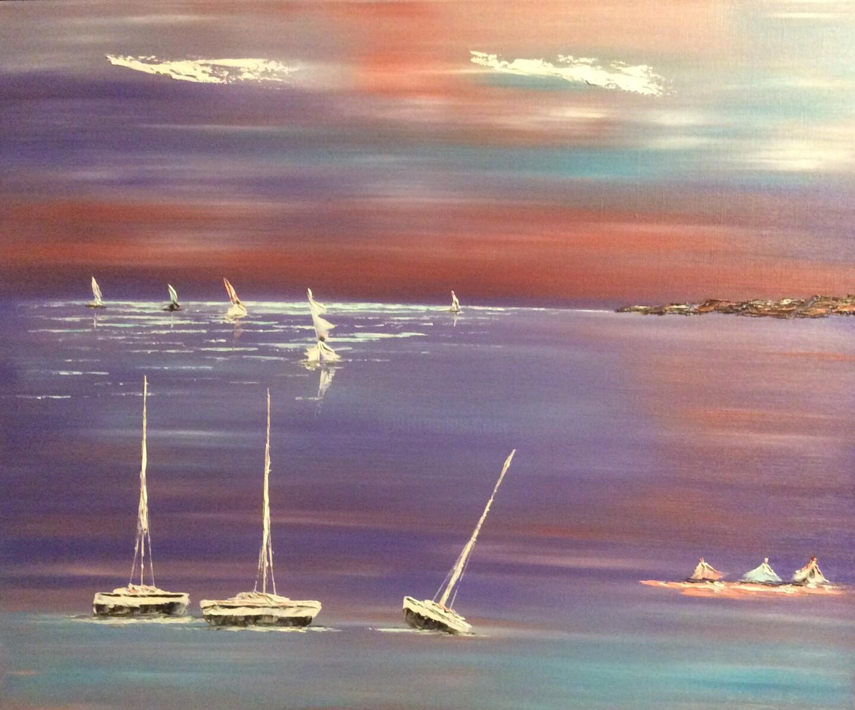 Etienne Guérinaud - Les 3 mats et les 3 barques.