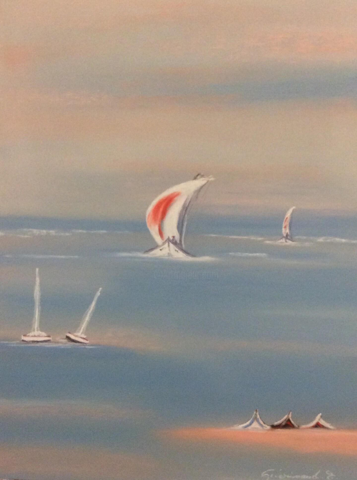 Etienne Guérinaud - Voilier en pleine course