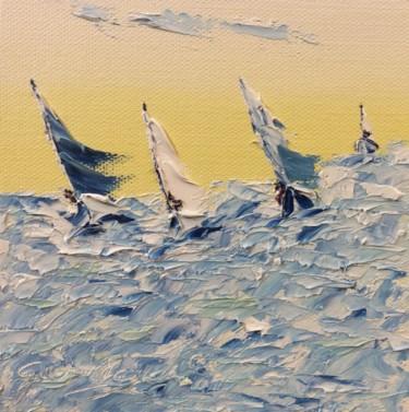 Les voiliers dans la tempête.