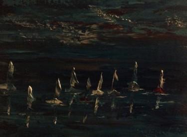 Les voiliers dans l'obscurité
